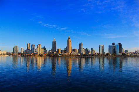 San Diego Skyline From Ferry Coronado Times