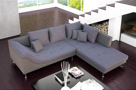chloé design canapé canapé d 39 angle design palma cuir pu et tissu design