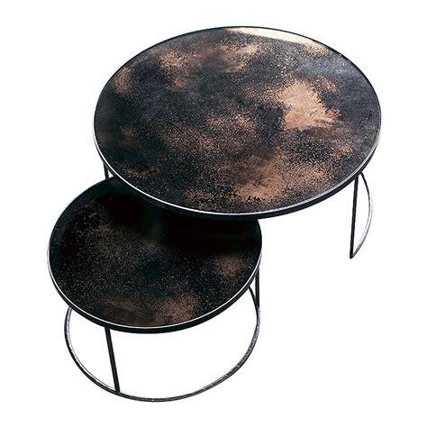 bronze table l set buy notre monde heavy aged mirror coffee table set round