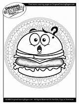 Coloring Cheeseburger Below Any sketch template