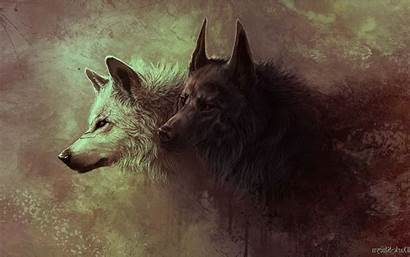 Wolves Gray Painting Desktop Wallpapers Backgrounds Mobile