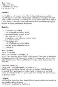 fast food service resume professional fast food server templates to showcase your talent myperfectresume
