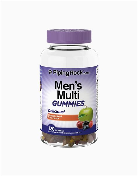 Men's Multi Gumies (120 Gummies) by Piping Rock | BeautyMnl