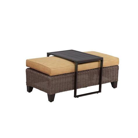brown ottoman coffee table brown jordan vineyard patio ottoman coffee table with