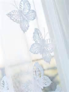 butterfly sheer curtains crochet