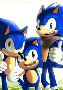 Classic Modern Sonic the Hedgehog Sonic Boom
