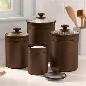 4 kitchen canister sets better homes and gardens bronze finished metal canisters with glass lids set of 4 kitchen