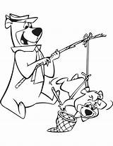 Bear Cave Yogi Coloring Pages Mammoth Park Jellystone Template Cartoon Boo Sheets Fishing Templates Yahoo Bears sketch template