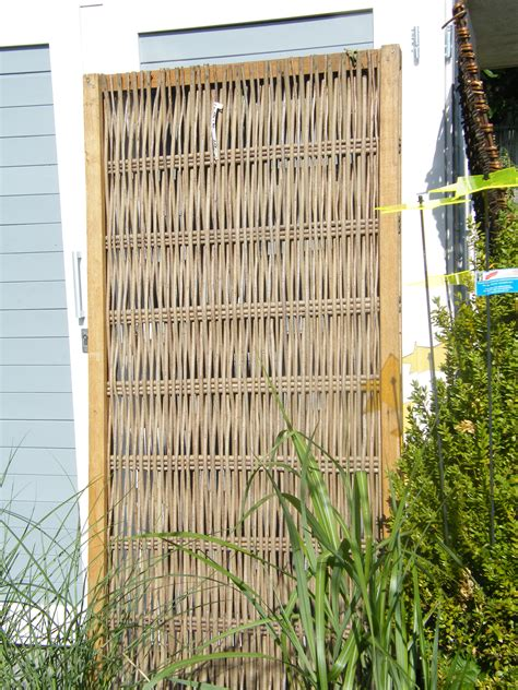 Sichtschutz Garten Robinie by Sichtschutz Aus Robinie Mit Rahmen 180x90cm Www Garten