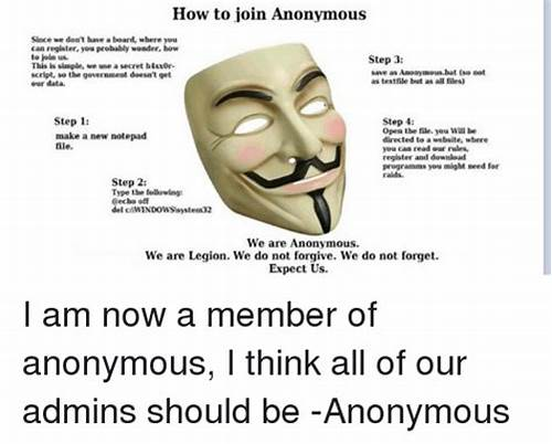 Do You Needed Be Our Member #25+ #Best #Memes #About #How #To #Join #Anonymous