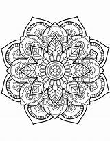 Mandala Coloring Pages Flower Printable sketch template