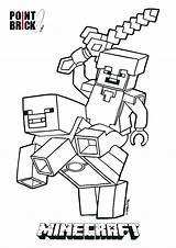 Minecraft Coloring Pages Printable Herobrine Getcolorings Colorings sketch template