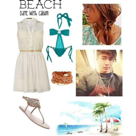 Beach Date - Calum created by imagine-5sos on Polyvore | Inspired outfits | Pinterest | Created ...