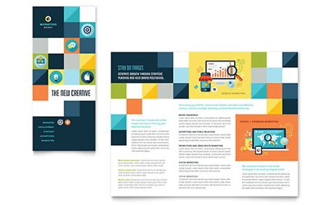 Ad Agency Brochure Design by Marketing Agency Tri Fold Brochure Templates