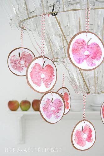 apfeldruck kindergarten decoration  autumn