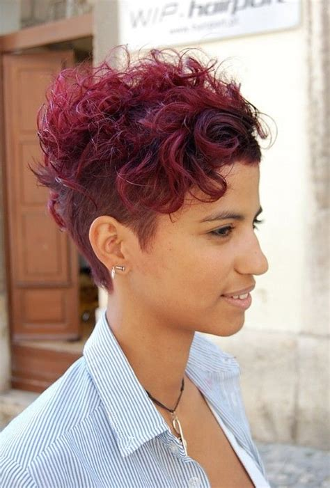 wow short sassy sexy  red hot cut curly hairstyles
