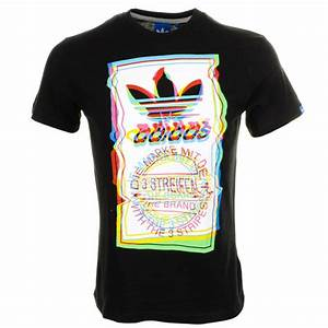 Adidas Trefoil Design Adidas Originals Test Pattern T Shirt In Black For Men Lyst