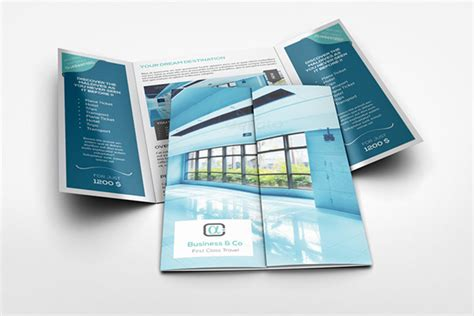 gatefold brochure mockup  behance