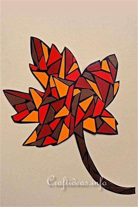 autumn crafts  kids paper mosaic maple leaf  paper