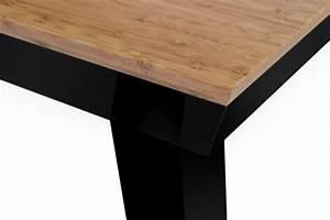 Table à Manger Noire : table manger origami meuble design ~ Teatrodelosmanantiales.com Idées de Décoration
