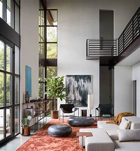 High, Ceilings, And, Industrial, Materials, Are, Prominent, Design, Elements, In, This, New, House