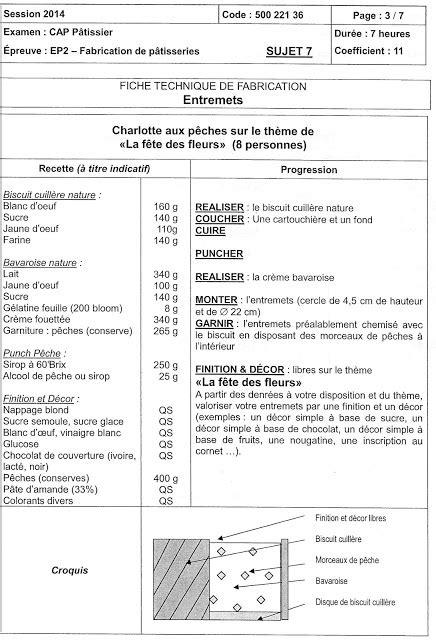 fiche technique de cuisine cap pâtissier en candidat libre les fiches techniques de fabrication classées par recettes