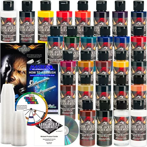airbrush paint colors 26 createx colors 2oz detail colors airbrush paint hobby craft ebay