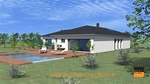 maison plain pied moderne nexthome creation With hauteur maison plain pied
