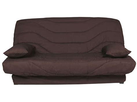 housse de canapé chocolat couette clic clac 140 cm prima chocolat uni vente de