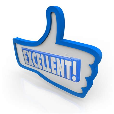 Excellent Feedback Thumbs Up Review Like Approval Stock