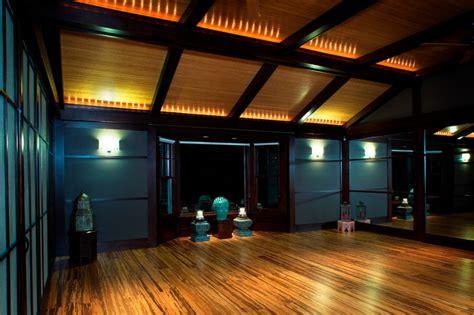 private yoga studio contemporary home gym omaha