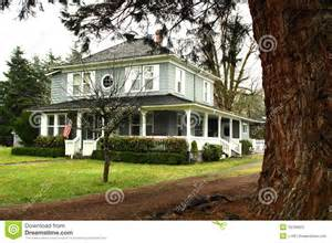 large country homes large country home with wide wrap around porch stock photography image 18769952