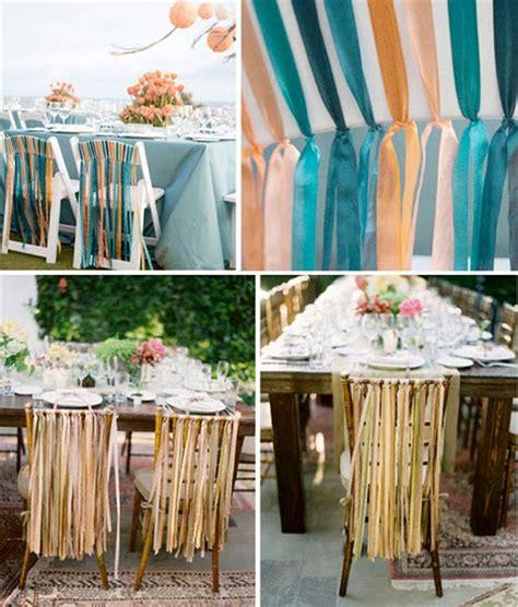 decoration chaise mariage decoration de mariage avec du ruban mariageoriginal