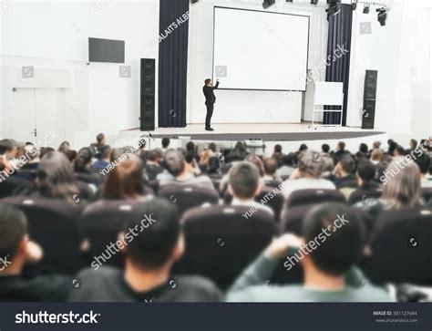 11343 business presentation audience speaker business convention presentation audience stock