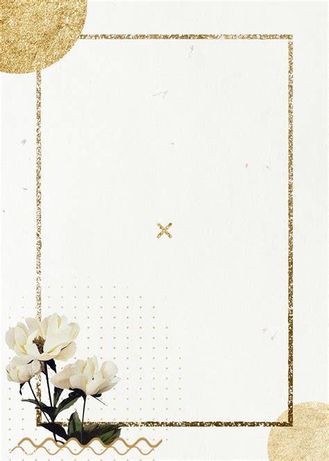 golden shimmering rectangle frame design premium image