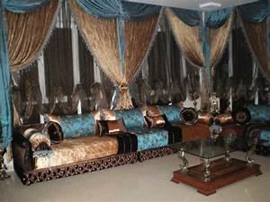 Rideaux Pour Salon Moderne : rideaux marocains pour salon marocain ~ Teatrodelosmanantiales.com Idées de Décoration
