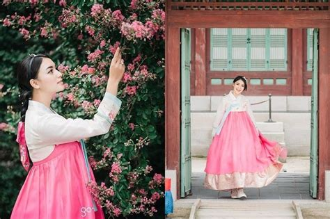 parade  seleb kenakan hanbok  liburan  korea