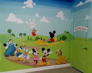 mickey mouse clubhouse wall mural home design With kitchen colors with white cabinets with mickey mouse clubhouse stickers