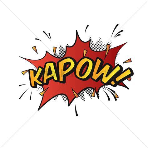 Comic Effect Kapow Vector Image Stockunlimited