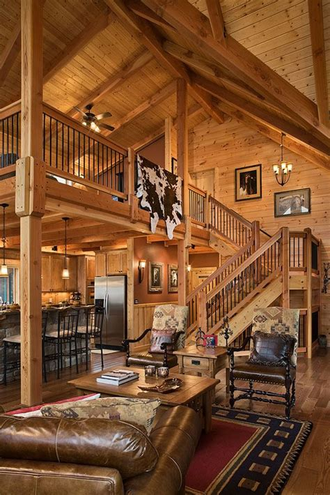 cabin loft ideas log home stairs rails log homes of america rustic Cabin Loft Ideas