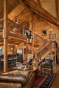 Delightful Stylish Log Home Interiors Best 25 Log Home ...