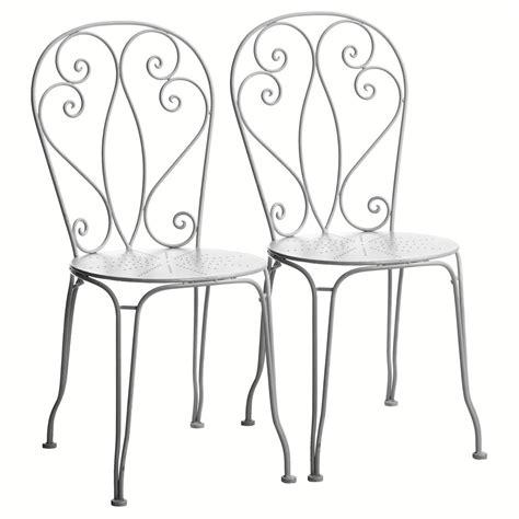 chaise fer forgé pas cher chaise en fer forgé mireille jardin d 39 autrefois chaises