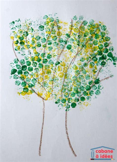 le avec des bulles de la peinture avec du papier bulle un mimosa en fleurs cabane 224 id 233 es