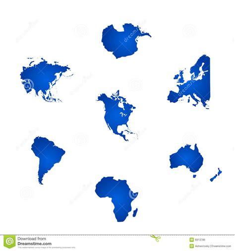 alle pflanzen der welt alle sechs kontinente der welt vektor abbildung
