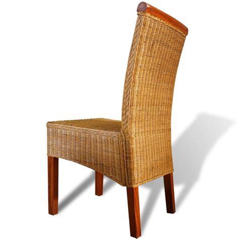 lot de 6 chaises en bois acheter lot de 6 chaises tissées en rotin avec barre en bois décorative pas cher vidaxl fr