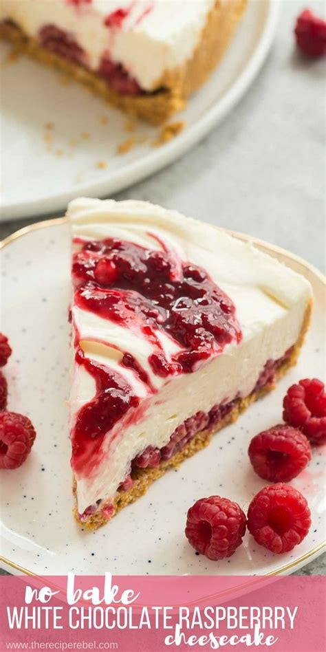 This link is to an external site that may or may not meet accessibility. This White Chocolate Raspberry Cheesecake is an easy no-bake cheesecake for… | Raspberry ...