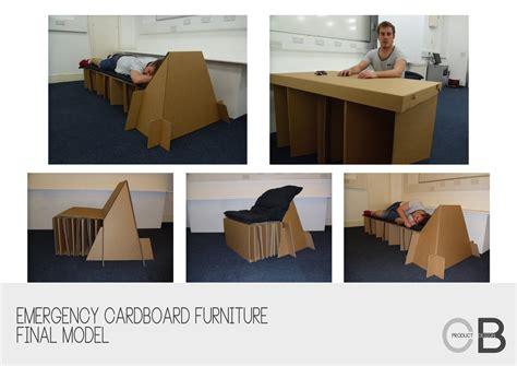 Ecofriendly Emergency Cardboard Furniture By Craig Ball At Coroflotcom