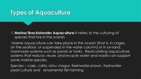 fisheries aquaculture