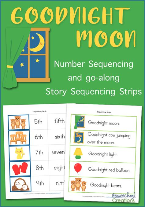 goodnight moon sequencing cards  printable
