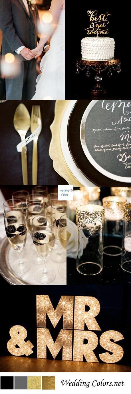 black gold wedding inspiration wedding colors